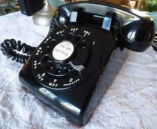 Western Electric 500 Black Rotary Phone - Working, Soft Plastic - all dates 1957