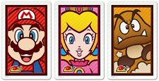 NINTENDO 3DS AUGMENTED REALITY AR CARDS * TARGET * MARIO, PRINCESS PEACH, GOOMBA