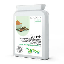 Turmeric 500mg & Black Pepper 60 Targeted Release Capsules 95% Curcumin Extract