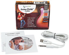 ClearClick USB Guitar, Bass, and Keyboard Recording Cable with Music Software