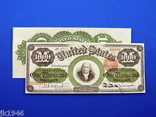 Reproduction $1000 1863 LT US Paper Money Currency Copy