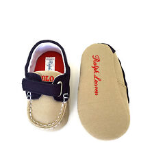 Ralph Lauren Baby Boys' Sander EZ Canvas. Tiny Toddler. Size 1 M US