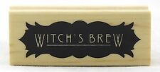 Witch's Brew Wood Mounted Rubber Stamp Inkadinkado NEW halloween party spooky ar