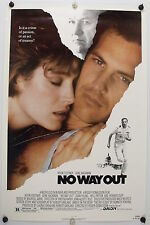 NO WAY OUT -  Kevin Costner - 1987 Original NSS Movie Poster Rolled SS C8/C9