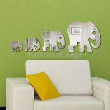 5Pcs Elephant Decal Art Mural Wall Sticker Modern Home DIY Decor Transparent