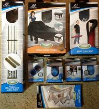 Huge LOT Billiard Pool accessories NEW Cue Wall Rack, Table Cover, case, chalk