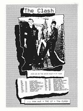 "The Clash White Riot Tour 16"" x 12"" Photo Repro Concert Poster"
