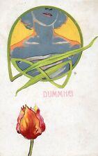 """Ill. Bompard - Art Nouveau, Glamour Lady """"Dummhei"""" - Non Viaggiata - B196"""