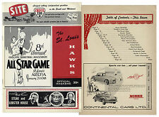 1958 NBA Basketball All Star Game Program