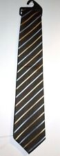 NEW JOB LOT 10  MEN'S BROWN, BLUE AND CREAM STRIPY TIE BY MARKS & SPENCER
