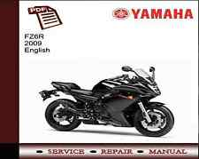 Yamaha FZ6R FZ6 R 2009 Service Repair Workshop Manual