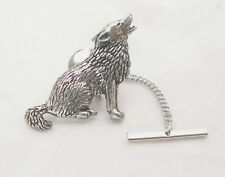 Wolf Tie Pin by Hoardersworld in Fine English Pewter, Gift Boxed