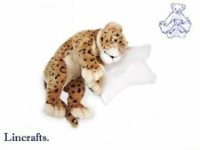 Curled Cuddly Leopard Cub Plush Soft Toy Wildcat by Hansa 4864