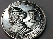 PERSIA, AMERICAN HOSTAGE NOV 4, 1979 SILVER COIN, ONE TROY OZ-.999