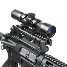Tactical .223 5.56 Tri-Rail Mount Carry Handle Side Rails See Throught Aluminum