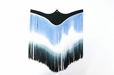 Blue, White and Black Fringe Trim