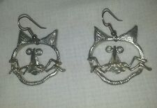 Maurice Milleur Signed funky Cat Earrings