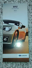 2015 Subaru BRZ accessories catalog brochure