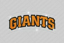 MLB - SF Giants - Bling - Iron-on Glitter Vinyl & Rhinestone Transfer