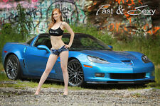 C6 Corvette Z06 Z07 Fast & Sexy Poster - Hot Girls and Sports Cars