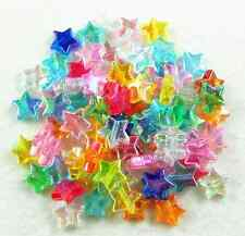 100Pcs 10mm AB Mixed Color Star Acrylic Spacer Loose Beads DIY Jewelry