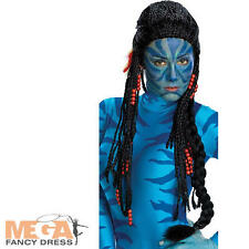 Avatar Neytiri Larga Peluca Fancy Dress Movie Disfraz señoras Peluca Accesorio-Deluxe