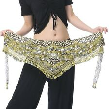 Leopard Belly Dance Belt Hip Scarf Costume Skirt Nile style 408 pcs Gold coins
