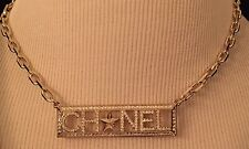 New & Authentic CHANEL 2017 Crystal & Star Plate Necklace *SOLD OUT!*