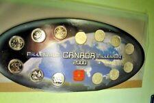 2000 CANADA Millennium BU Quarter (25 cents ) Set! - 13 Coin set  - Complete