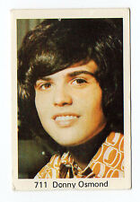 1970s Swedish Pop Star Card #711 US Heartthrob Teen Idol Singer Donny Osmond