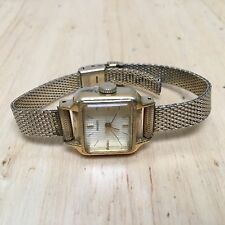 Vintage Seiko 1104 Lady 17 Jewels Gold Tone Hand-Winding Watch Hours~Keep Time