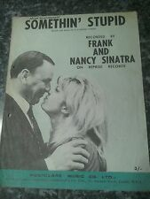 Somethin stupid  Frank and Nancy Sinatra  vintage music sheet