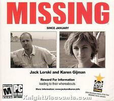 MISSING Since January Adventure PC Game WinXP NEW BOX