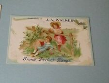 J.A. Walker Grand Perfect Range Victorian Trade Card York PA Pictured on Back