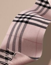 Burberry METALLIC CHECK REVERSIBLE CASHMERE SCARF- ASH ROSE COLOR - UNISEX