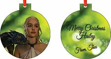 NEW Personalized Game of Thrones Ornament ( Add Any Message You Want)
