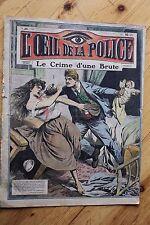 Rarissime L' OEIL DE LA POLICE N° 26 Le Crime d' Une Brute