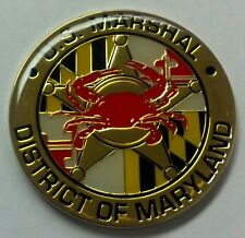 USMS United States Marshals Service District of Maryland Crab Coin - GOLD