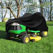 "Deluxe Riding Lawn Mower Tractor Cover Yard Garden Fits Decks up to 54"" -Black Y"