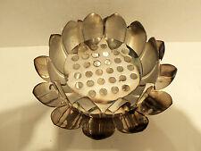 Vintage Leonard Silverplate Lotus Tulip Petal 3pc Centerpiece Bowl Set Italy