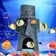 Hot Aquarium Landscaping Decoration SpongeBob House Aquatic Fish Tank OrnamentMW