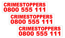 3 X CRIME STOPPERS VEHICLE STICKER DECALS      (cs2)