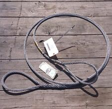 1/2 x 15 feet cable with looped ends miltiary logging winch towing lifting new