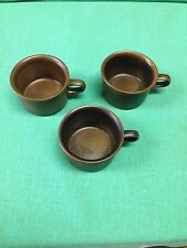 3 -Arabia Made in  Finland  Brown small mugs Only