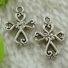 free ship 168 pcs tibet silver cross charms 20x14mm #3593