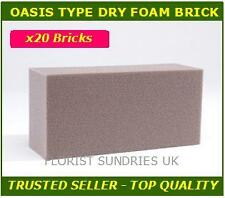 1 Case of 20 Florex dry foam floral bricks silk dries flowers - Oasis type