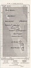 ILES NICOBAR ISLAND CARTE MAP PLAN INDE INDIA IMAGE 1883 PRINT