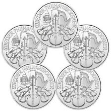 Lot of 5 - 2016 Austria 1.5 Euro 1 Oz Silver Vienna Philharmonic Coin SKU38510