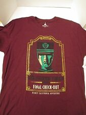 Disney Tower of Terror Final Check Out Shirt XXL Ride Closing Limited + Maps