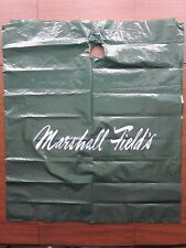 """Marshall Field's Green Plastic Bag White Lettering 27"""" wide x 31"""" tall ~ USED"""